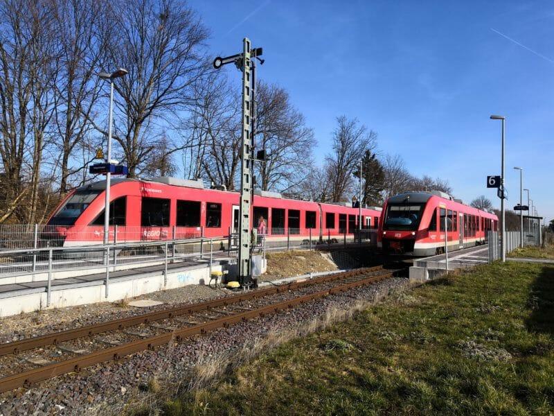 Zugkreuzung in Salzgitter-Ringelheim